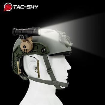 TAC-SKY tactical headset peltor comtac ii iii bracket Fast Ops Core helmet ARC rail adapter and tactical flashlight mounting kit tac sky tactical headset fast ops core helmet arc rail comtac bracket and new removable tpe peltor comtac i ii ii iv headband
