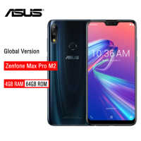 ASUS ZenFone Max Pro M2 ZB631KL 4GB pamięci RAM 64GB ROM NFC 6.3 cal 4G LTE face id 5000mAh z systemem Android 8.1Smartphone telefon do gier