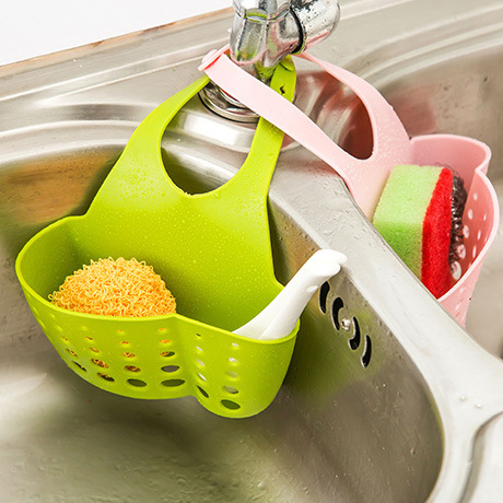 Kitchen Sink Draining Rack Sponge Holder Rack Sink Kitchen Hanging Drain Storage Tools Storage Shelf Sink Holder Drain Basket