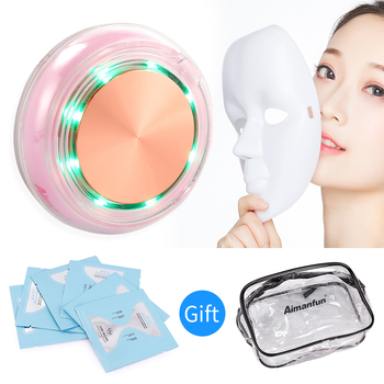 2016 hot sale portable 7 color 3mh led photon ultrasonic improving elasticity ultrasound facial skin care therapy device Ultrasonic Facial Photon Mask Machine Ultrasound Therapy Beauty Device Importing Essence Vibration Massage Instrucment Masks Kit