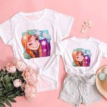 Мама и дочь одежда для всей семьи футболки «Холодное сердце»