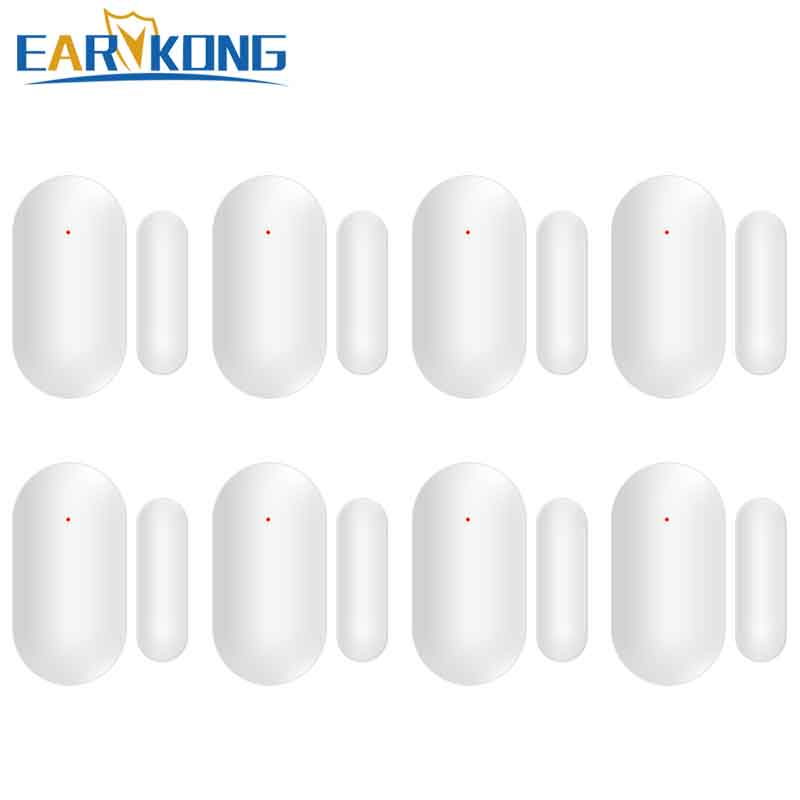Earykong Wireless Door gap detector 433MHz inside antenna 8 pieces include for security home alarm system door magnet alarm