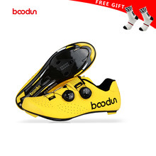 Boodun 2019new style Road Cycling Shoes Carbon Fiber Men Self-Locking Racing Breathable Ultralight Professional Bicycle Sneakers(China)