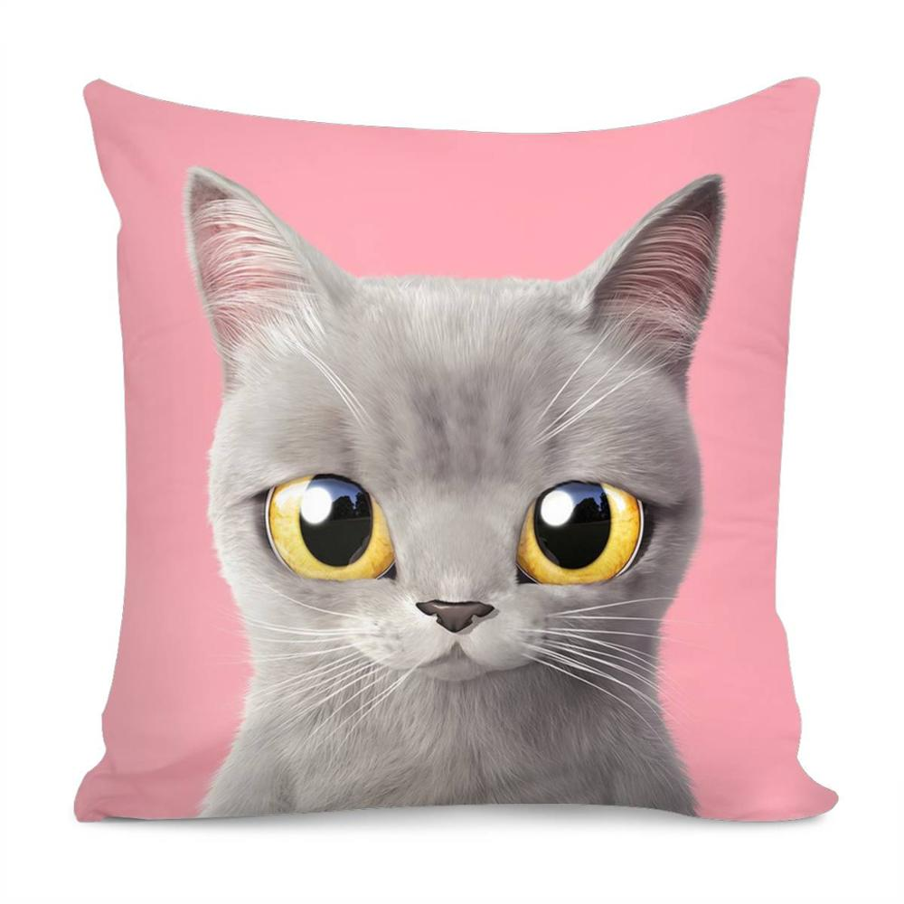Hugsidea Lovely Cat Head Print Throw