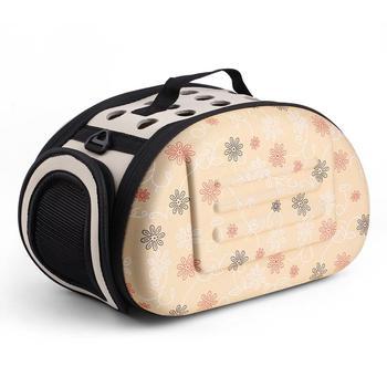 Lovely Floral High Quality Soft EVA Portable Foldable Travel Shoulder Pet Bag Breathable Outdoor Carrier S/M/L Size