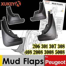 Chắn Bùn Cho Xe Đạp Peugeot 206 301 307 308 408 2008 3008 5008 Mk1 Mk2 Mudflaps Bắn Vệ Binh Mudguards Fender Sedan saloon Hatchback