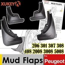 Clapet anti boue pour Peugeot garde boue, 206, 301, 307, 308, 408, 2008, Mk1 Mk2, garde boue pour berline berline, berline, hayon, 3008