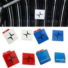 Araba 3D ABS ızgara Sticker Volvo Polestar S90 S60 XC60 XC40 XC90 V60 V90 S80 V40 V50 C30 araç amblemi rozeti Styling etiketler