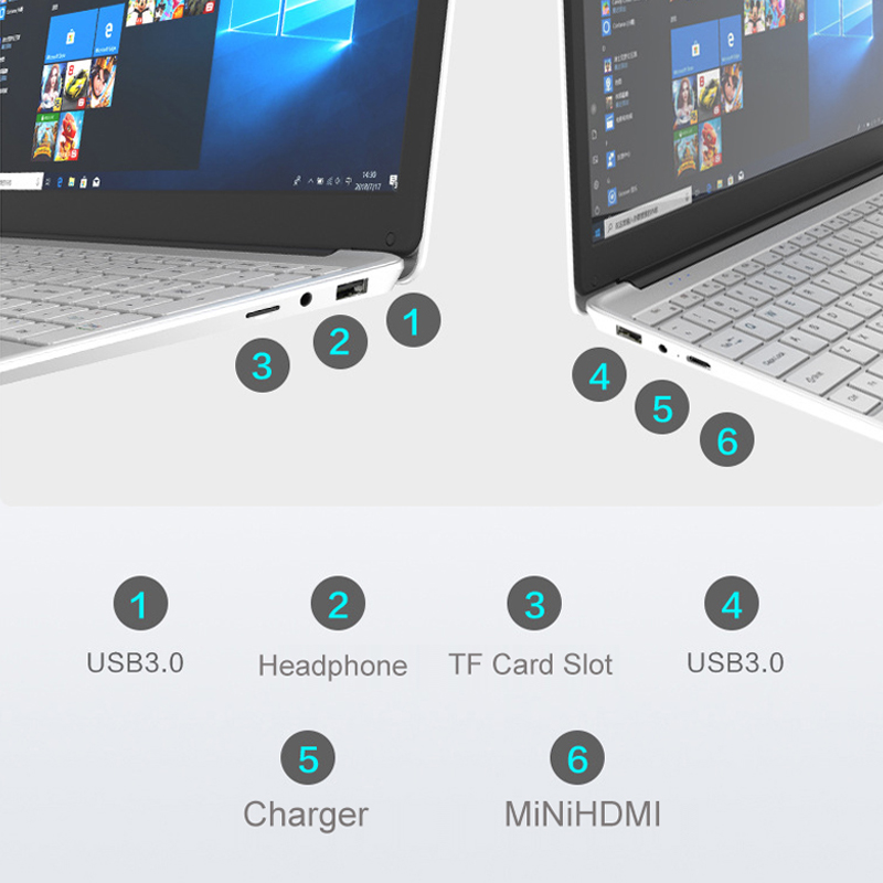 15.6 inch Laptop 8G RAM 128G/256G/512G/1TB M2 SSD ROM Student Gaming Office Computer With Backlit Keyboard 1920*1080 Windows 10