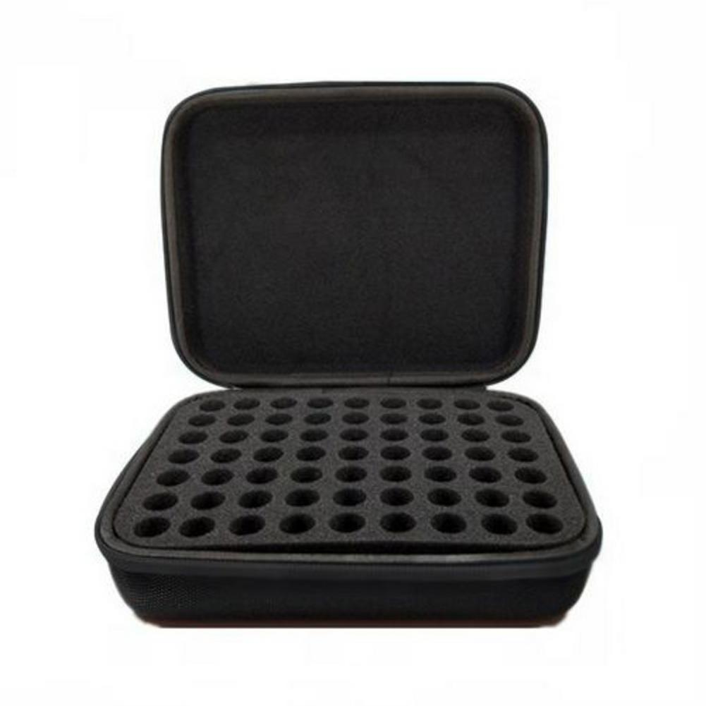 63-Grid 5ML Essential Oil Storage Box Ball Bottle Portable EVA Package Carrying Organizer Case Without Bottles For Traveling