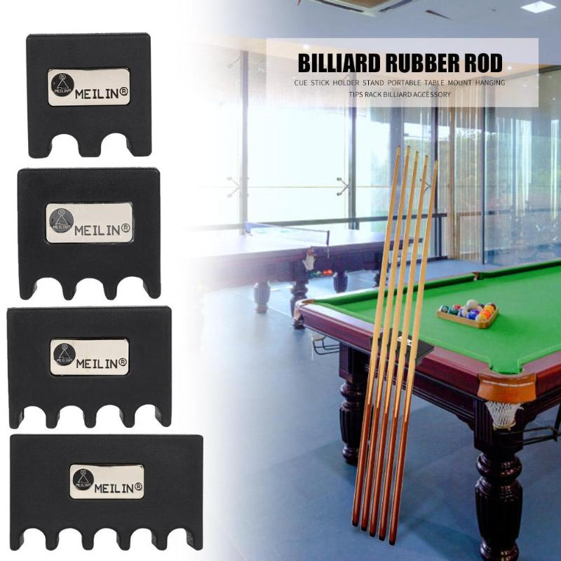 Portable Pool Cue Stick Holder Stand Rest Table Mount Hanging Tips Rack Billiards Accessories