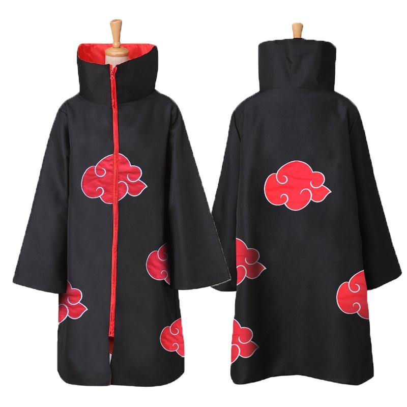 Anime Naruto Akatsuki Costumes /Sasuke Uchiha Itachi Costume Halloween Christmas Party Cosplay Cloak Cape Ring Headband Gifts