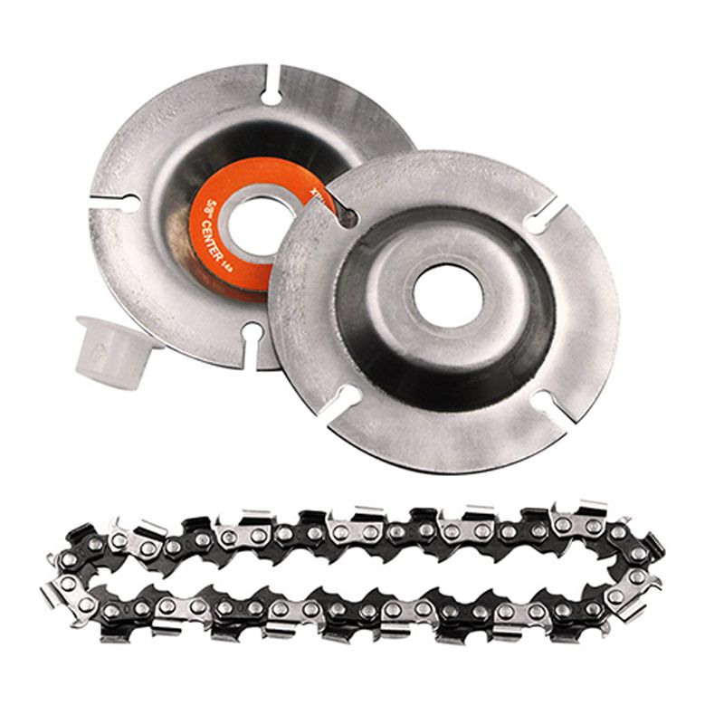 Saw Blade Disc Fine Abrasive Cutting Chain Grinder Chain 1PC 4/5 Inches Wood Carving Disc For 125x 22mm Angle Grinder