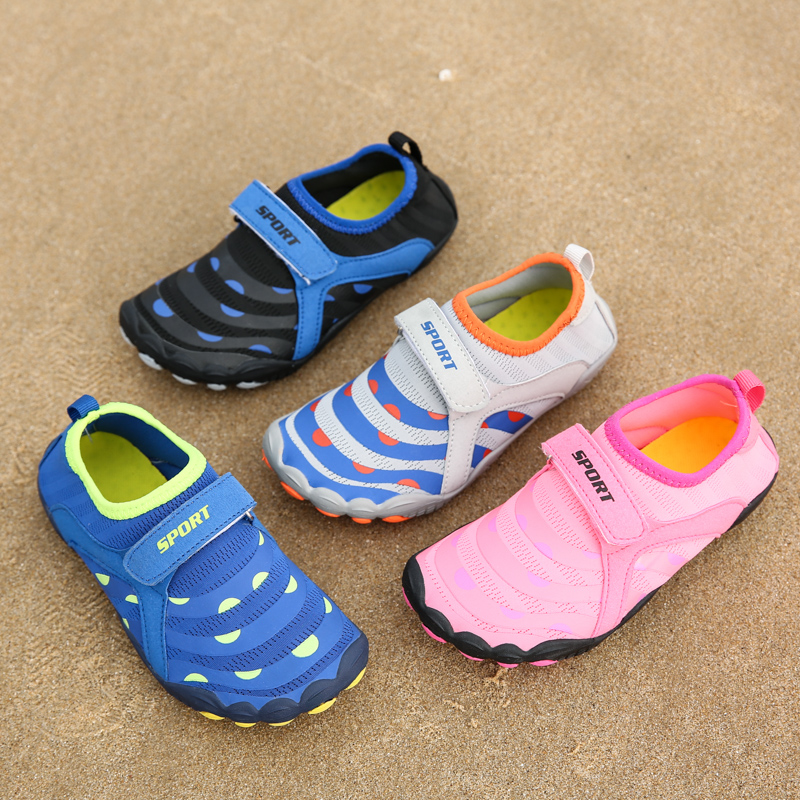 Non Slip Boy Girl Beach Swimming Shoes Children Elastic Wearproof Water Sports Shoes Quick-Dry Breathable Upstream Aqua Shoes
