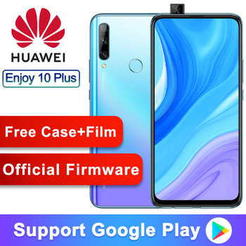 Original Huawei Enjoy 10 Plus Smartphone 6.59'' Kirin 710F Octa Core 16MP Auto pop up camera 48MP Rear three cameras Fingerprint