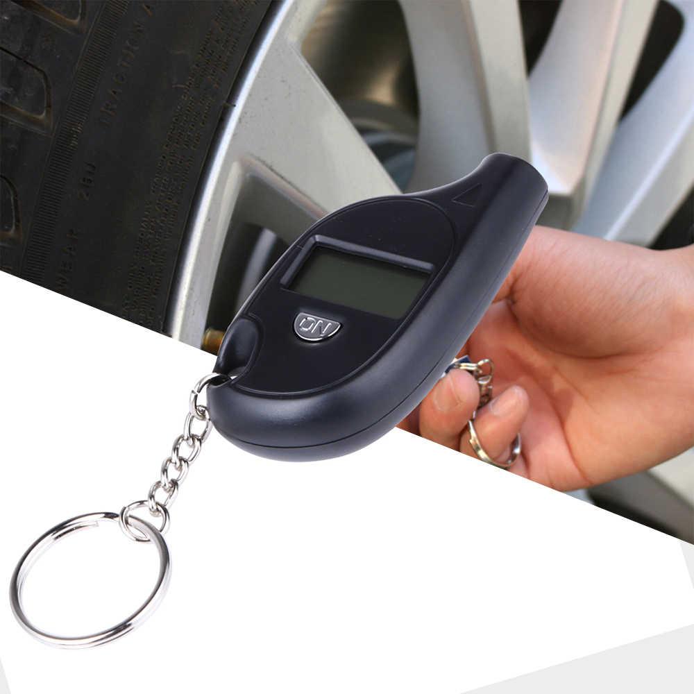 Móc Khóa Di Động Màn Hình LCD Kỹ Thuật Số 2-150 PSI Lốp Xe Lốp Bánh Xe Đồng Hồ Đo Áp Lực Khí Máy Kiểm Tra Áp Suất Lốp Xe Lốp Dụng Cụ