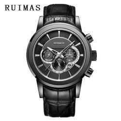 Sport wojskowy automatyczny zegarek mężczyźni ze stali nierdzewnej Top marka luksusowe mechaniczne skórzane wodoodporne zegar 2019 Relogio Masculino