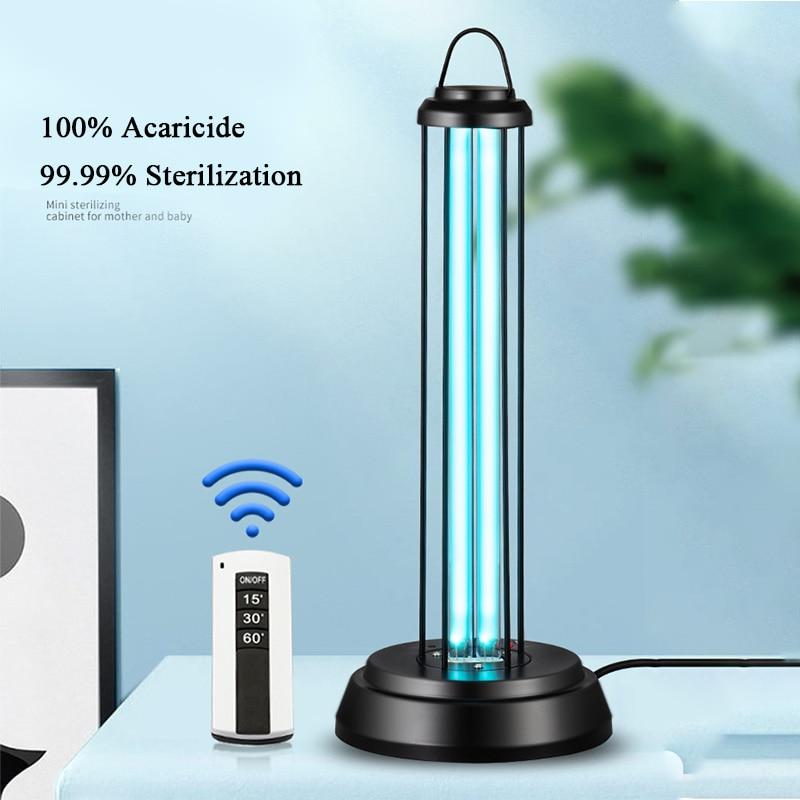 Portable household 110v ultraviolet disinfection quartz lamps 38w 68w germicidal UV Ozone Quartz lamp desktop disinfection lamps