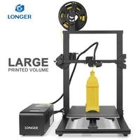 LONGER LK1 3D Printer with 2.8 Touch Screen Big Printed Volume Unique Frame Design Resume Printing 3D Print Printer 3D