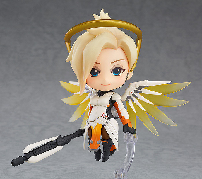 Very Hot and Cool Q Version Overwatch OW Angel Angela Classic Skin PVC Boxed Model Figure Toy for Friends or Children 3