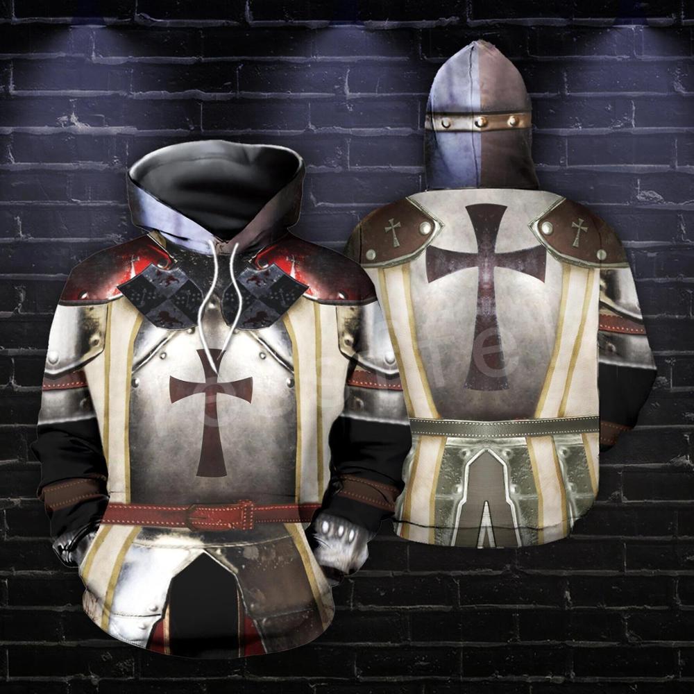 Tessffel Knights Templar Armor Pullover Streetwear Harajuku Tracksuit 3DfullPrint Zipper/Hoodies/Sweatshirt/Jacket/Men/Women S-5