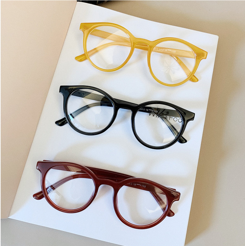 H5a6ad880e77e4e948227e2807962f05ek - VWKTUUN Round Glasses Frame Vintage Soild Candy Color Eye Glasses Frames For Women Clear Lens Myopia Computer Glasses