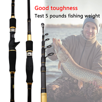 Carbon Rod M power lure 7g -28g 1.8M 2.1M 2.4M 2.7M Portable Telescopic Fishing Rod Spinning Fish Hand Fishing Tackle Sea Rod fast 1 8m 2 1m 2 4m 2 7m carbon spinning casting m power telescopic fishing rod lure rod 7 28g 12 25lb travel trout rod