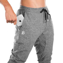 Joggers Trackpants Men Cotton Sweatpants Gym Fitness Bodybuilding Work