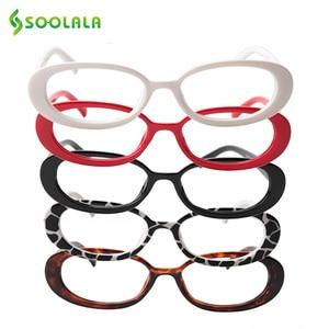 Image 2 - SOOLALA 5 Pairs śliczne owalne mała ramka do czytania okulary kobiety oprawki do okularów okulary korekcyjne 0.5 0.75 1.0 1.25 do 4.0