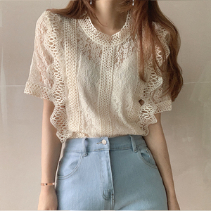Шикарная кружевная блузка VICONE, рубашка с вышивкой