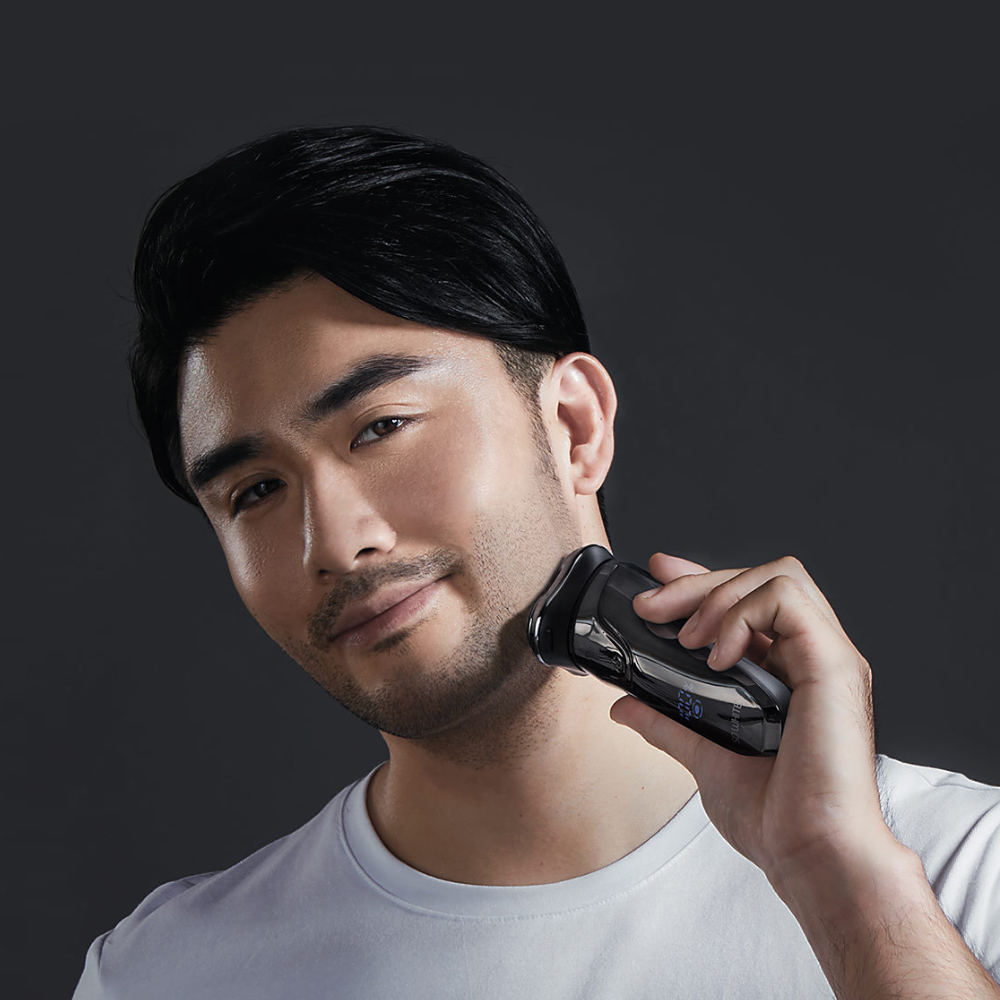 Image 5 - Xiaomi SO WHITE ES03 Electric Shave Razor Dry Wet Shaving Washable Mode 3D Smart Control Shaving Beard Machine Shaver-in Electric Shavers from Home Appliances