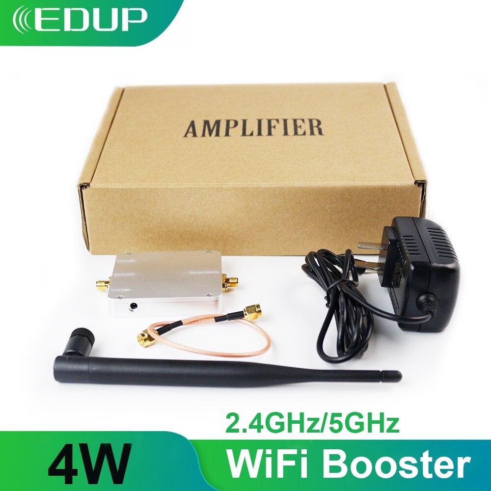 EDUP 5GHz/2.4GHz 4W Wifi Signal Booster sans fil répéteur amplificateur large bande pour WIFI routeur accessoires gamme Extender adaptateur