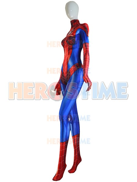 Mary Jane Spidergirl Costume MJ Woman//Kids Spandex Zentai Suit for Cosplay