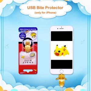 Image 2 - CHIPAL קריקטורה ביס בעלי החיים כבל מגן עבור iPhone USB נתונים מטען חוט וינדר ארגונית Chompers טלפון מחזיק אבזר