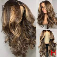 Основные цвета 180% парик из человеческих волос на сетке спереди