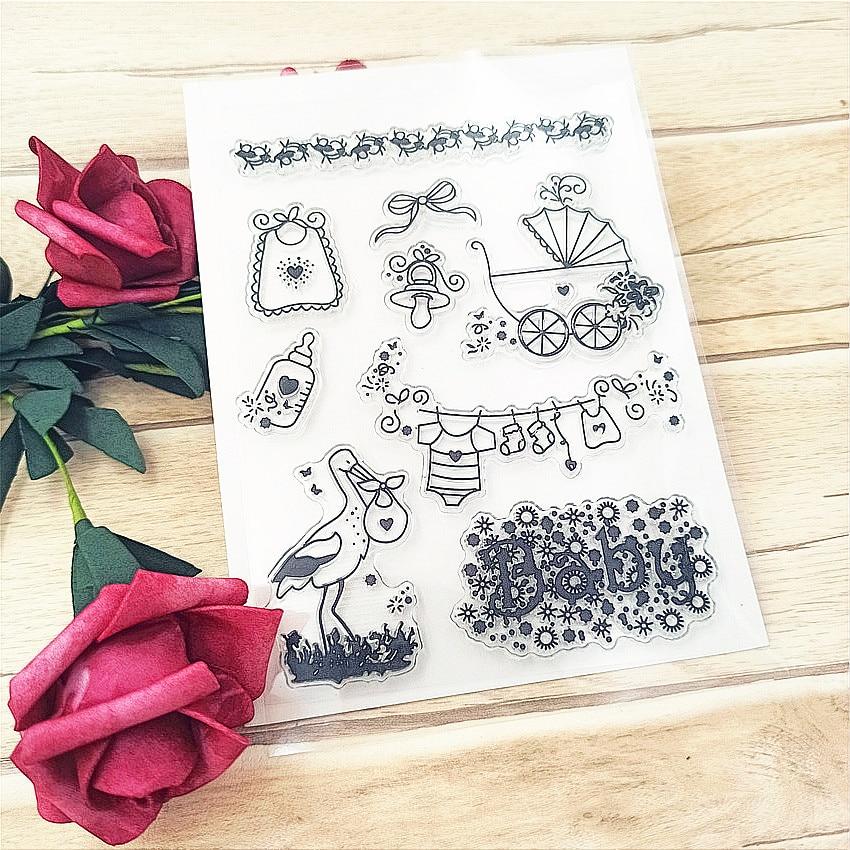 Горячая продажа детских колясок прозрачный штамп/силиконовый валик для запечатывания штамп DIY альбом для скрапбукинга/производство карт