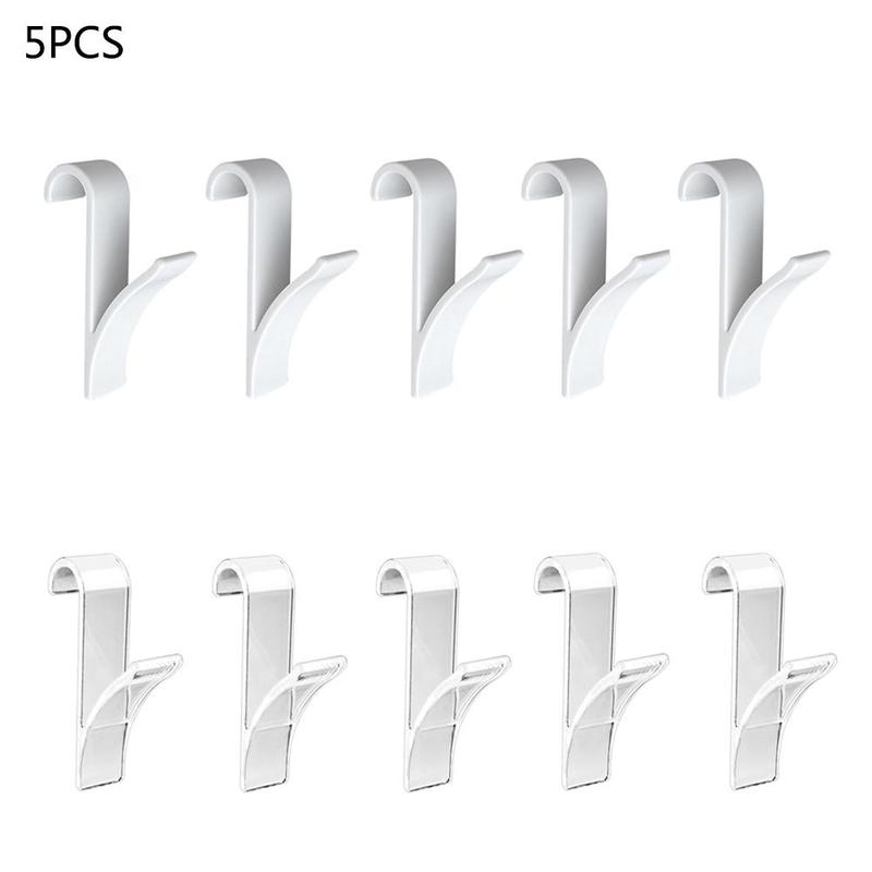 5pcs Multifunction Plastic Bathroom Hook High Quality Radiator Hook White/transparent Towel Unbrella Clothes Rack Decor