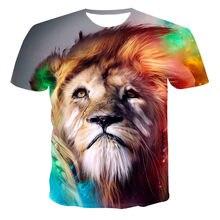2021 popular camiseta de manga corta para hombre tigre Camiseta de verano para hombre con estampado 3D hip-hop nueva camiseta ca