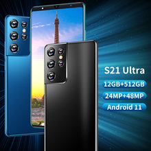 New Global Version S21 Ultra 6.1 Inch Smartphone Android11 5000mAh 12+512GB 24+48MP Full Screen Face ID Unlocked 4G 5G Cellphone