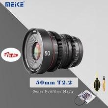 MEIKE 50MM T2.2 Manual Focus Cinema Lens for M4/3 Mount for Sony Fujifilm Olympu