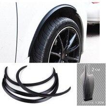 Opel Zafira a b c 4pcs Car Truck Carbon Fiber Rubber Wheel Eyebrow Protector Lip Sticker Trim Fender Flare Anti-scratch стоимость
