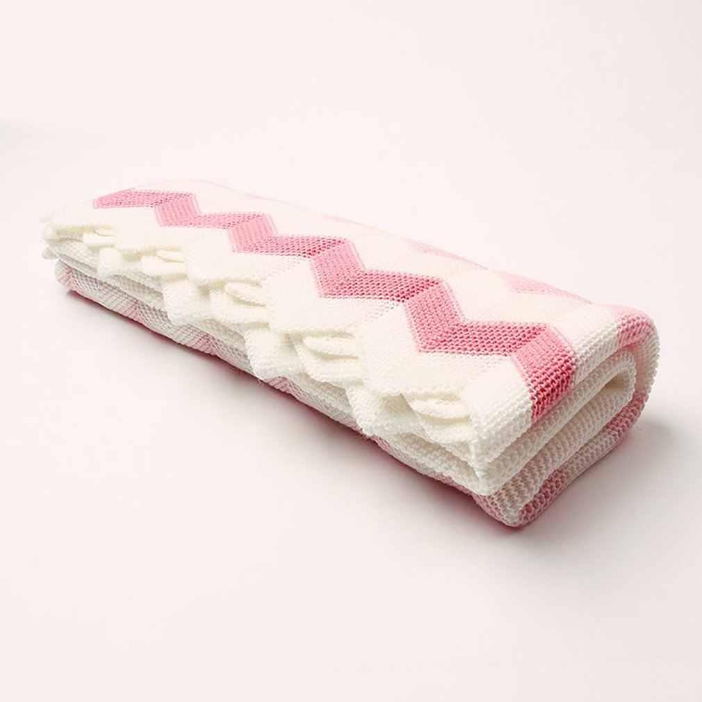 ベビー毛布ニット新生児おくるみラップ毛布スーパーソフト幼児幼児の寝具のキルトベッドソファ毛布秋春