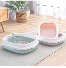 Plastic Semi-closed Cat Litter Box Toilet Pine Bedpans Anti-splashing Pot Crystal Sand/Bentonite Available