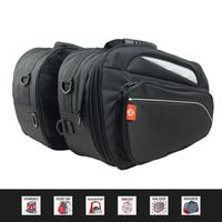 Motorcycle Pannier Bags Luggage Saddle Bags Side Storage Travel Pouch Box Helmet Bag Waterproof Detachable With Rain Cover