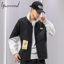 Yasword New autumn Jacket Men 2019 Loose Jackets Hooded windbreaker Fashion High Quality Coats