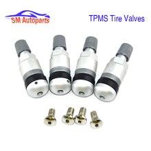 아우디 포르쉐 카이엔 고품질 4pcs TPMS 알루미늄 타이어 압력 센서 밸브 스템