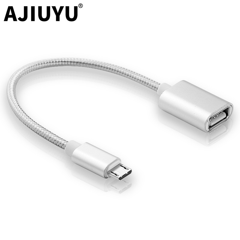AJIUYU OTG Micro USB Hub Adapter Cable Mobile Phone Tablet Micro Usb To USB 2.0 For For Xiaomi Redmi Samsung Huawei LG Android