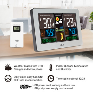 Image 2 - FanJu Temperature Humidity Wireless Sensor Indoor Outdoor Hygrometer Thermometer Wall Barometer Forecast Weather Station