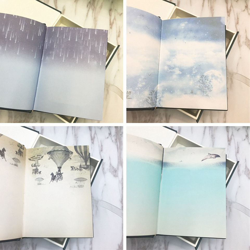 Creative color pages with lock notebook