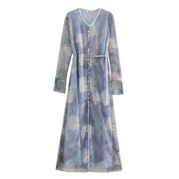 2020 Spring Summer New Grand Prix Print Pleated zaraing women Dress vadiming sheininig female Dress vintage plus size XDN9537 2